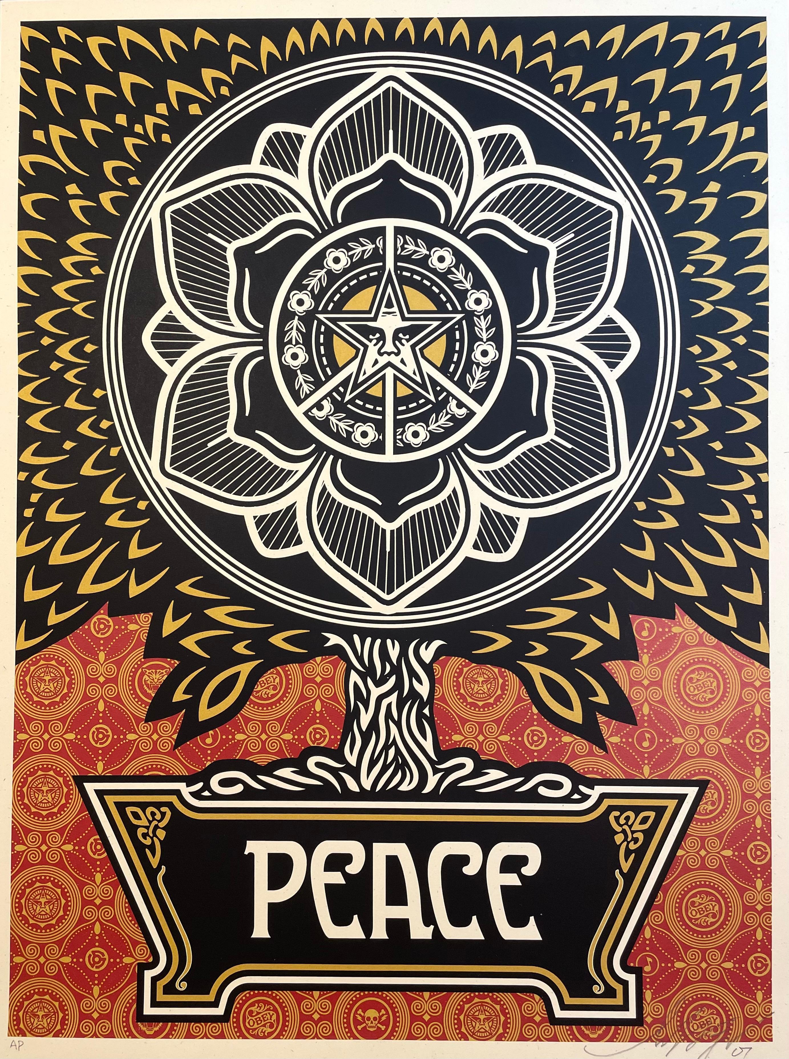 Shepard Fairey Peace Tree Golden Edition Artist Proof Rare Street Art 2007 Mint