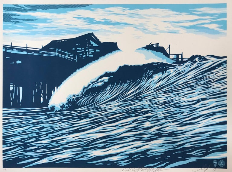Two artists: Shepard Fairey and C.R. Stecyk III  The Pacific Ocean Park pier straddled a dividing line between the cities of Santa Monica and Los Angeles. It was in equal portions: a legal quagmire; an abandoned amusement park; a venerable historic