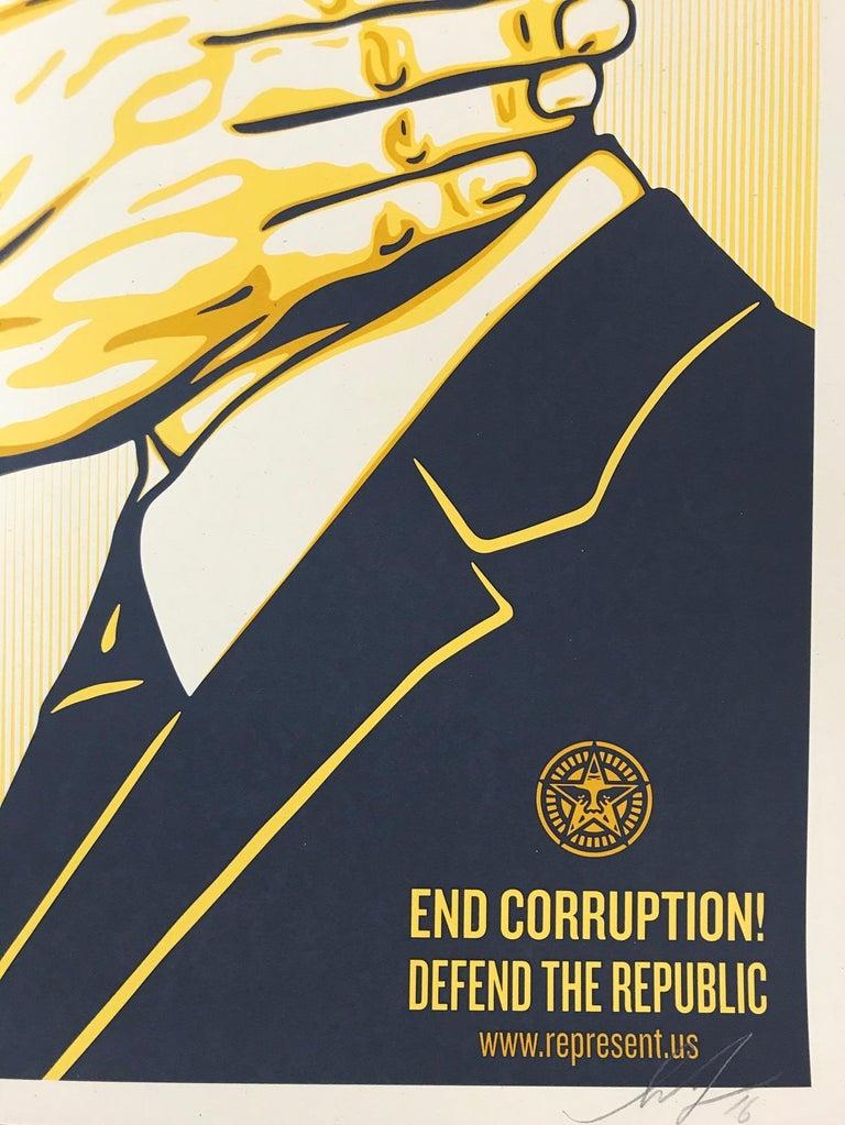 Shepard Fairey Print All The Free Speech Money Can Buy 2016 Street Art Pop Art For Sale 1
