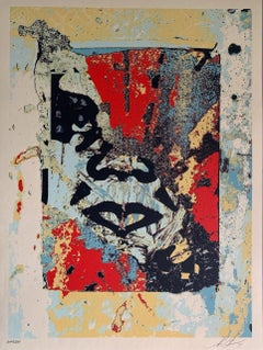 Shepard Fairey Print Enhanced Disintegration (Red) Obey Giant Pop Art 2020