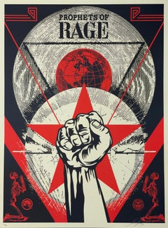 Shepard Fairey Print Prophets Of Rage New Day Rising Concert Music Street Urban