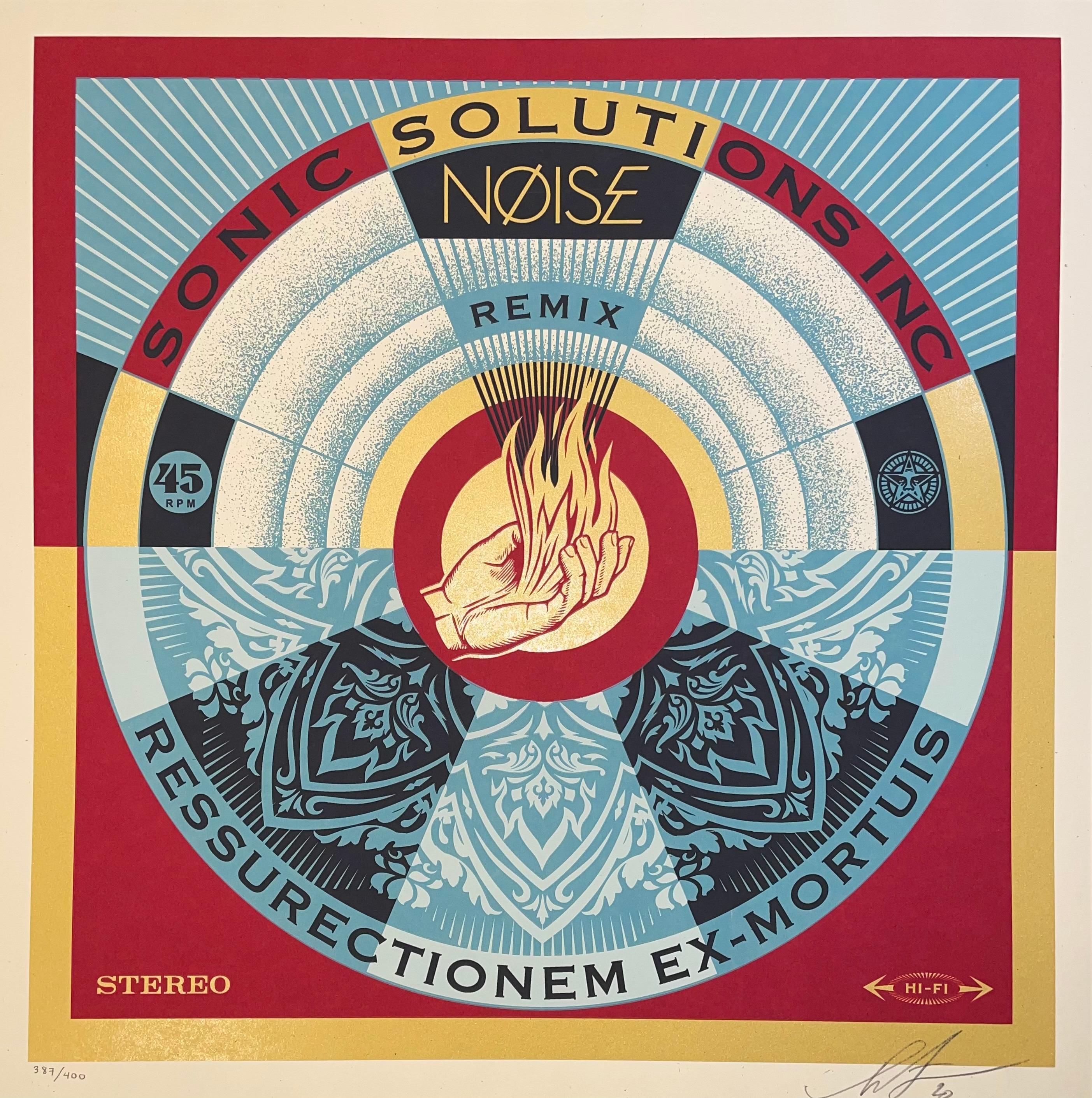 Shepard Fairey Print Signed & Numbered NØISE/SSI Resurrectionem Ex-Mortuis Remix
