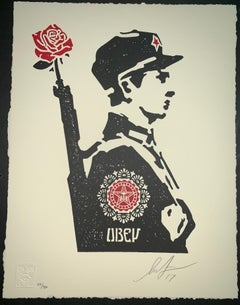 Shepard Fairey Rose Soldier Letterpress Edition 2017 Obey Giant Mint