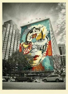 Shepard Fairey & Sandra Chevrier The Beauty of Liberty and Equality Print Mural