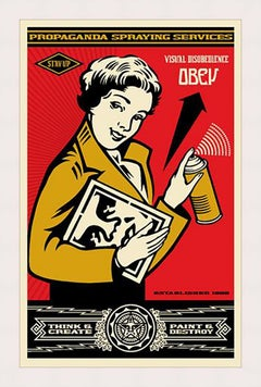SHEPARD FAIREY STAY UP GIRL SIGNED AND DATED