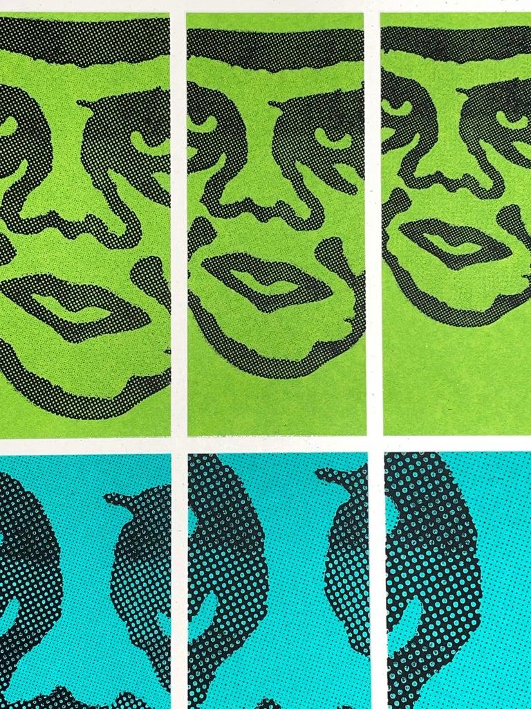 Shepard Fairey TWENTY-ONE Print Obey Giant Studio Number One Echo Park Urban Art For Sale 1
