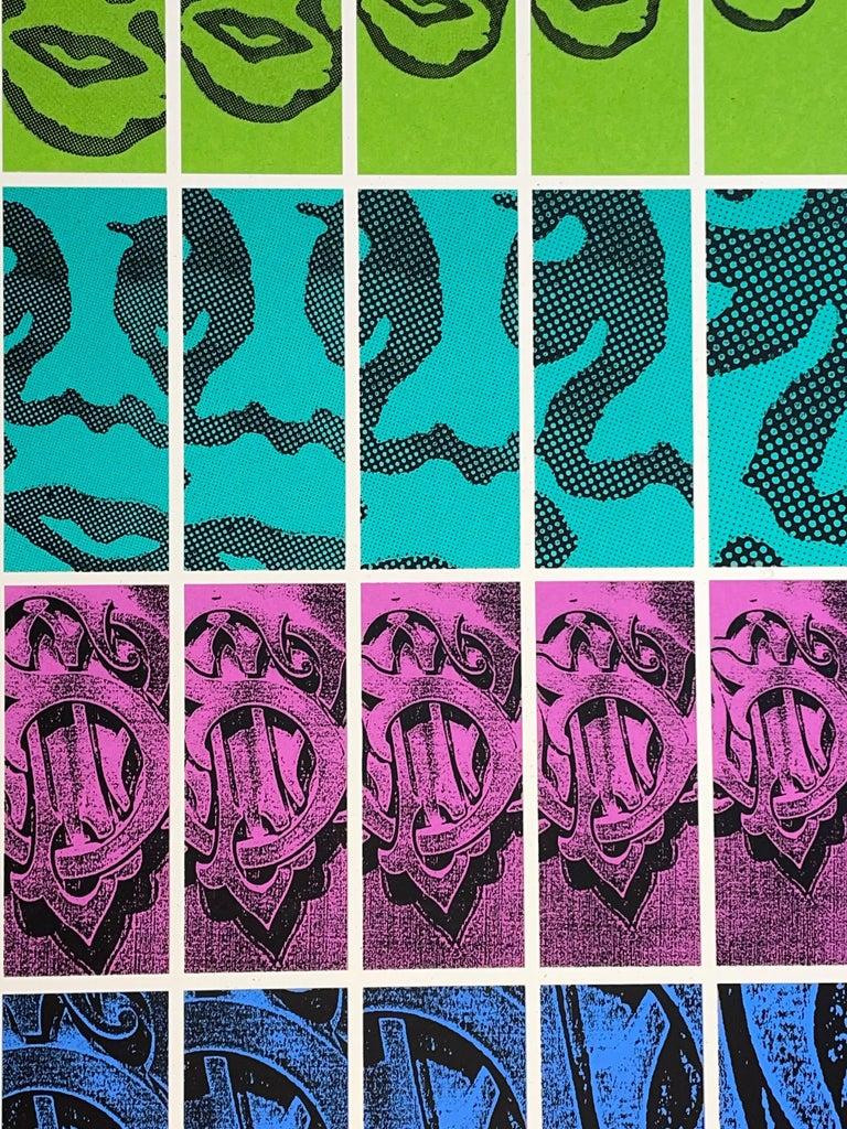 Shepard Fairey TWENTY-ONE Print Obey Giant Studio Number One Echo Park Urban Art For Sale 2