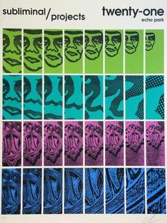 Shepard Fairey TWENTY-ONE Print Obey Giant Studio Number One Echo Park Urban Art