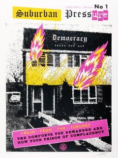 Suburban Pressure, Shepard Fairey x Jamie Reid. Punk Rock Street Art Print