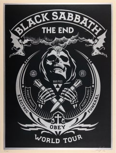 The End, Black Sabbath, Silver - Shepard Fairey Obey Contemporary Print