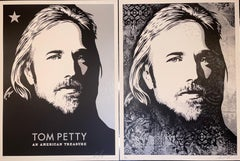 """Tom Petty """"An American Treasure"""" Diptych Matching Numbered Set Contemporary Art"""