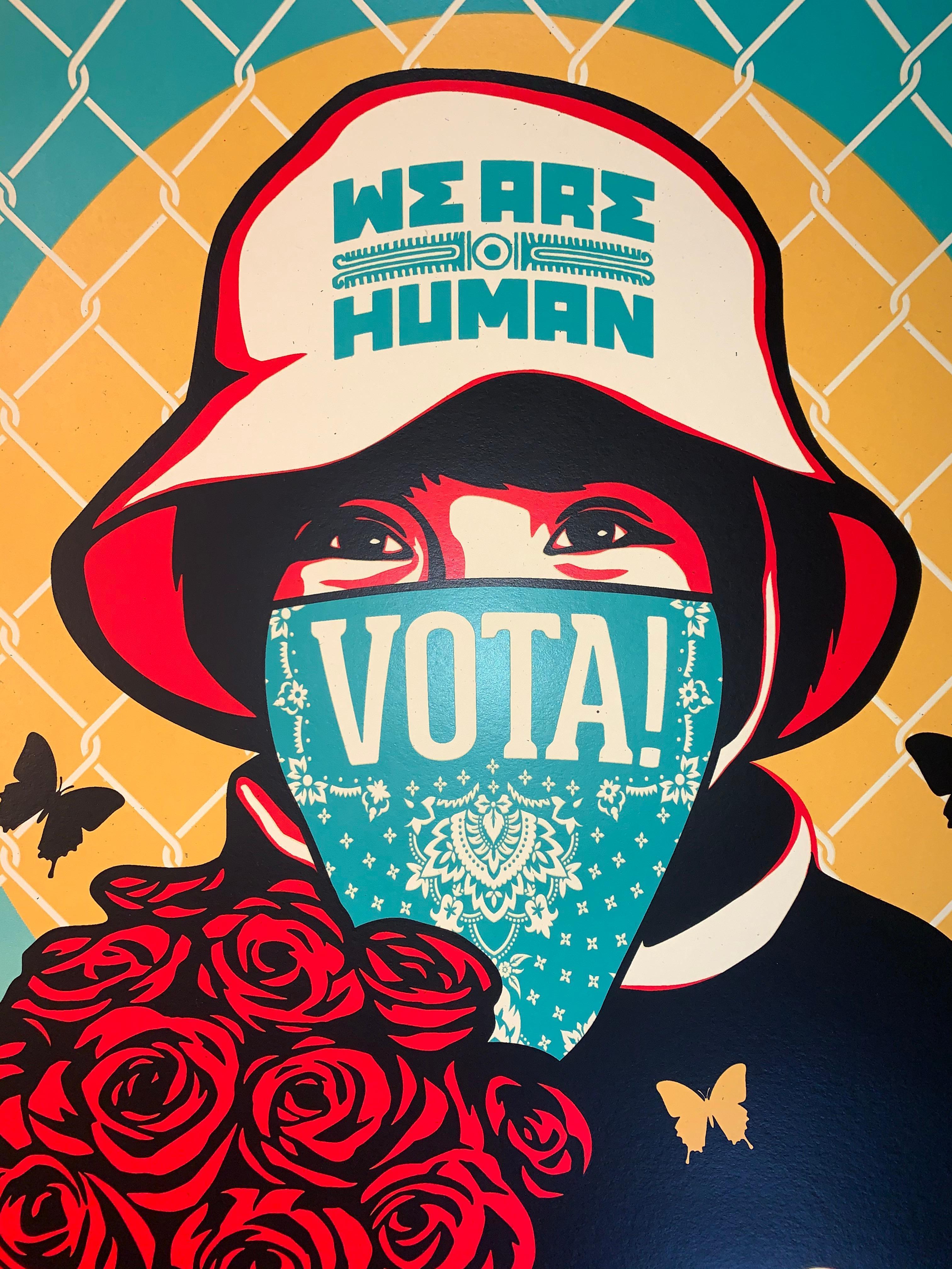 Vote! Stop Fascism 20 Shepard Fairey / Ernesto Yerena Fine Art Urban Art Street