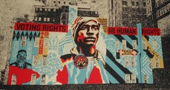 Voting Rights are Human Rights MKE Mural Shepard Fairey Print Black Lives Matter