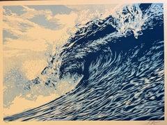 "Wave Of Distress Shepard Fairey Print Obey Giant ""World Water Day"" Urban Pop Art"
