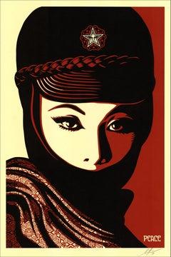 Woman portrait - Serigraph Handsigned