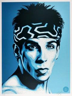 Zoolander Blue Steel, Obey - Shepard Fairey Street Art Print