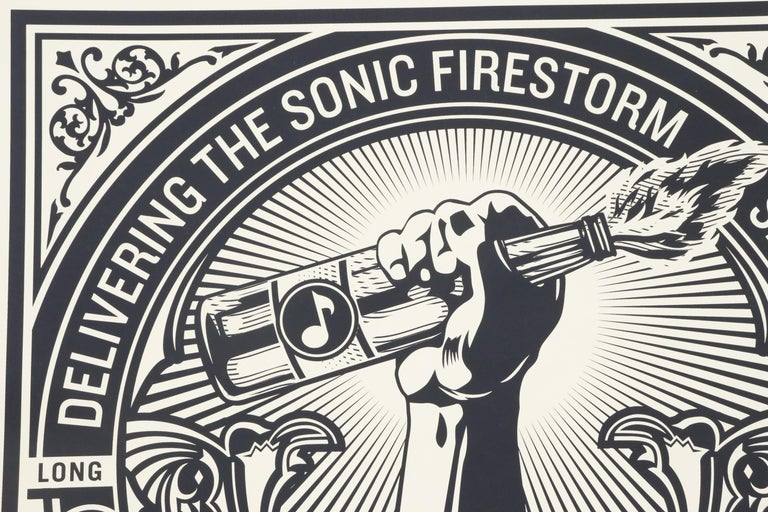 From the Iconic San Francisco based artist, Shepard Fairey, this 42 inch by 42 inch serigraph is signed by the Artist This is a Limited Edition of 50 (with this work numbered #21)