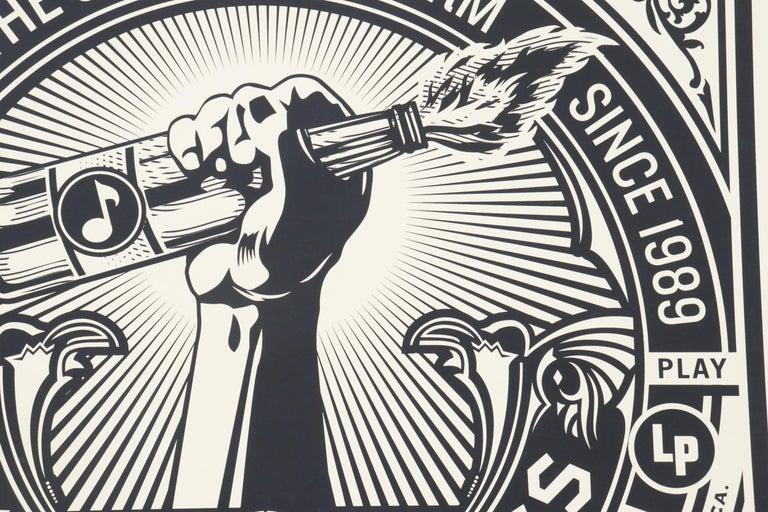 Shepard Fairey Serigraph Large Format Artist Signed