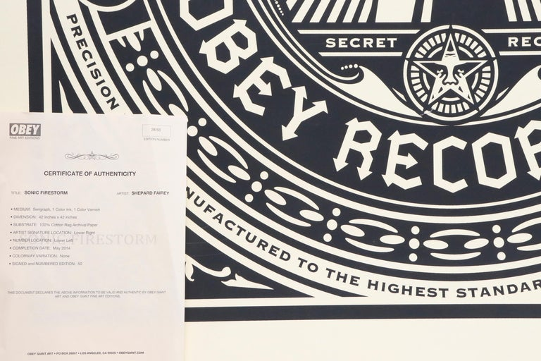 Contemporary Shepard Fairey Serigraph Large Format Artist Signed