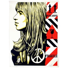 Shepard Fairey Signed Numbered Screenprint 156/450 Fragile Peace, Obey Giant