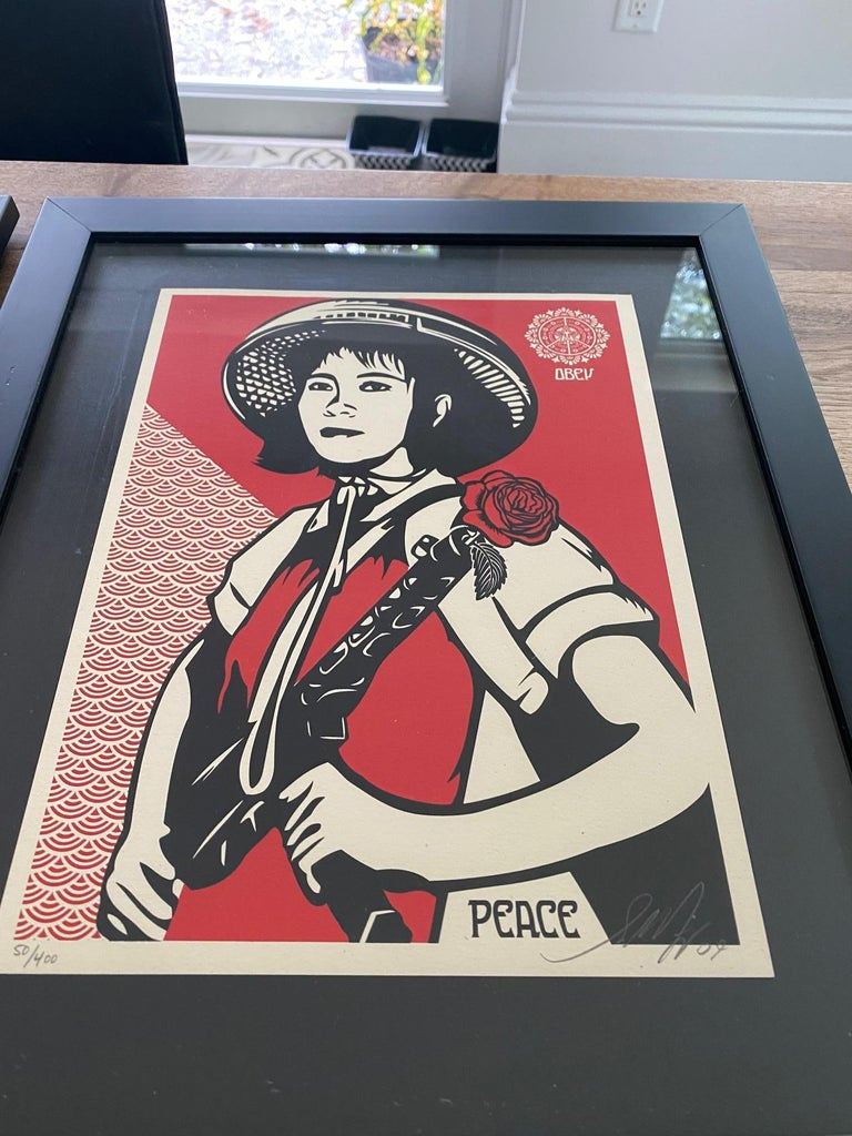 American Shepard Fairey Supply and Demand 20th Anniversary signed and numbered Serigraphs For Sale