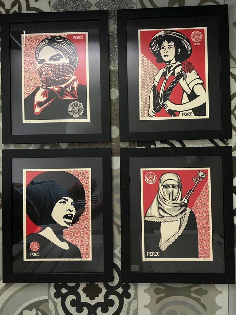 Contemporary Shepard Fairey Supply and Demand 20th Anniversary signed and numbered Serigraphs For Sale