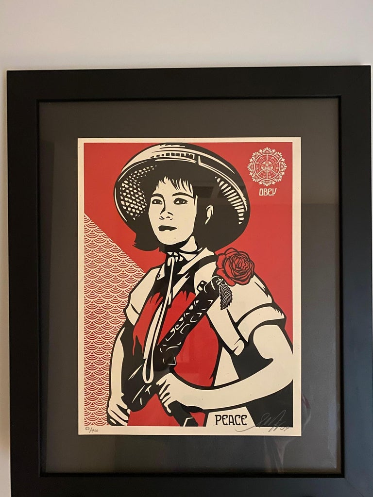 Paint Shepard Fairey Supply and Demand 20th Anniversary signed and numbered Serigraphs For Sale
