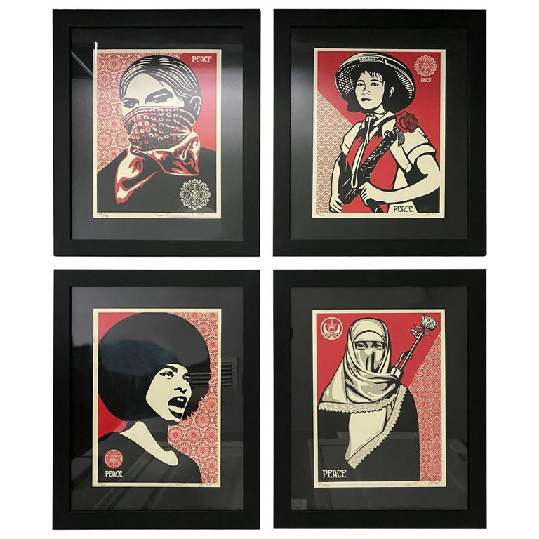 Shepard Fairey Supply and Demand 20th Anniversary signed and numbered Serigraphs For Sale
