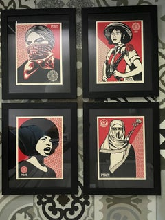 Shepard Fairey Supply and Demand 20th Anniversary signed and numbered Serigraphs
