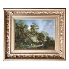 """""""Shepherd in a Clearing"""" Attributed to Alexander Nasmyth"""