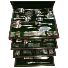 Sheraton by Mount Vernon Sterling Silver Flatware Set of Fitted Chest