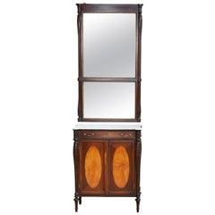 Sheraton Cabinet and Mirror