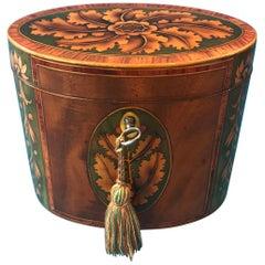 Sheraton George III Oval Tea Caddy, circa 1790