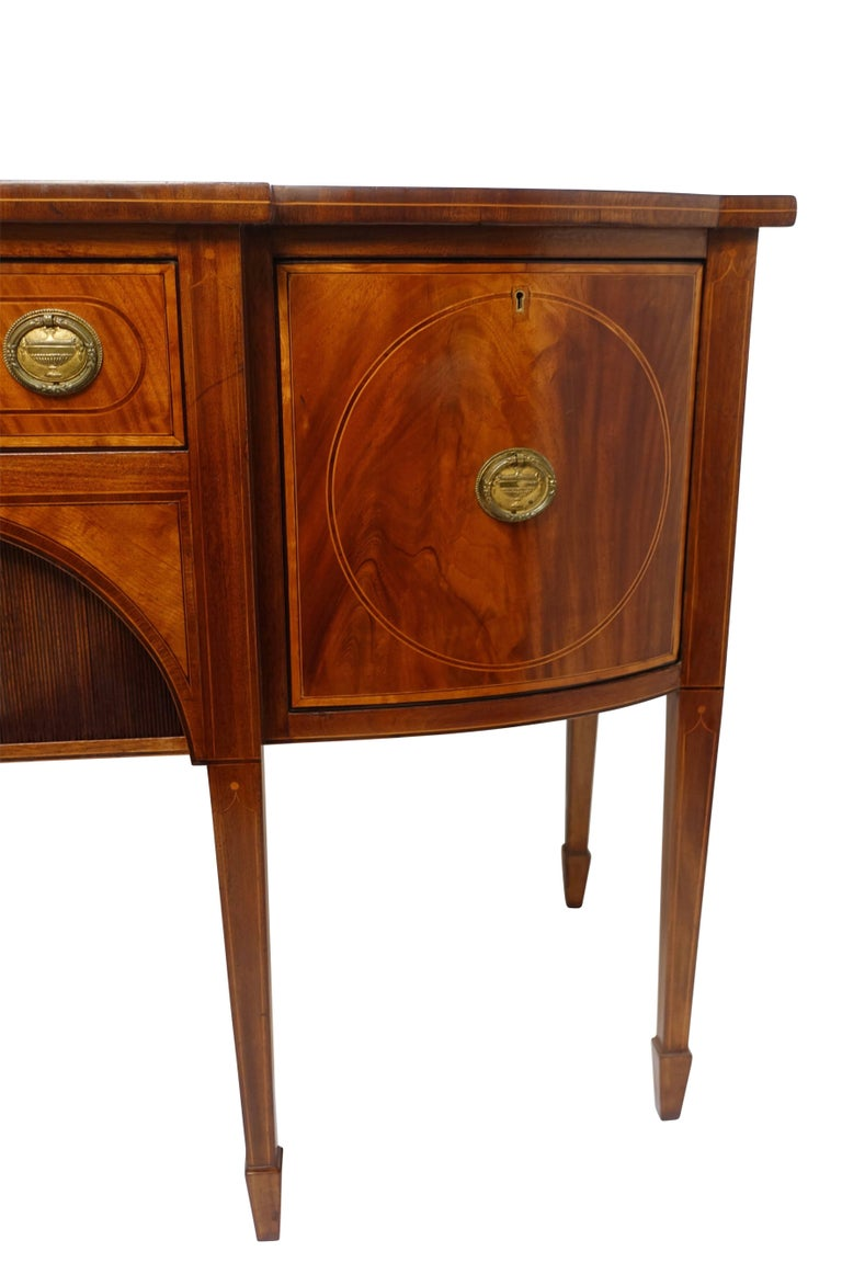 Sheraton Mahogany Sideboard with Satinwood Inlay, English Early 19th Century For Sale 1