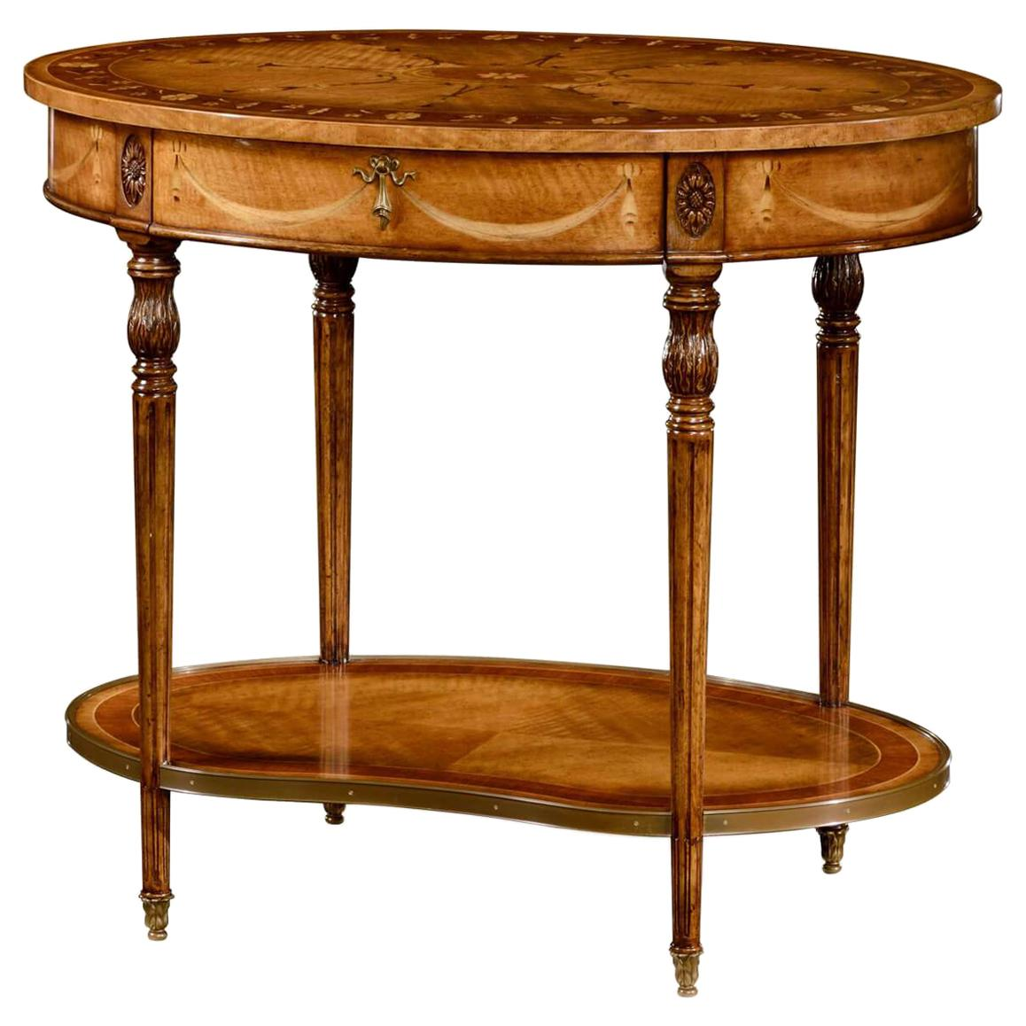 Sheraton Oval Side Table
