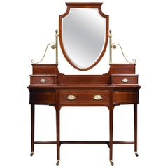 Sheraton Revival Mahogany Dressing Table
