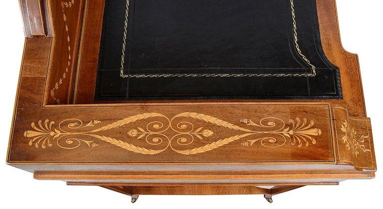 Sheraton Revival Mahogany Inlaid Ladies Desk, 19th Century For Sale 5