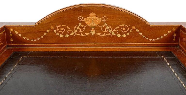 Sheraton Revival Mahogany Inlaid Ladies Desk, 19th Century In Good Condition For Sale In Brighton, Sussex