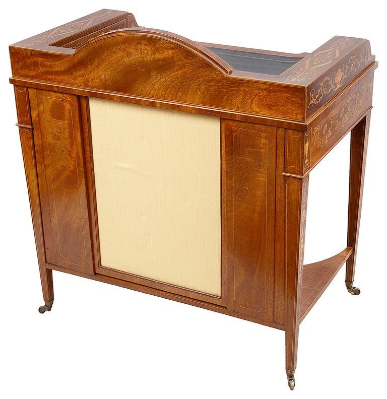 Sheraton Revival Mahogany Inlaid Ladies Desk, 19th Century For Sale 2