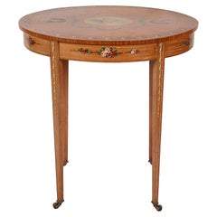 Sheraton Revival Satinwood Side Table, circa 1890