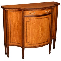 Sheraton Revival Serpentine Fronted Cabinet