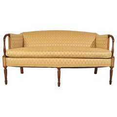 Sheraton Style Upholstered Settee