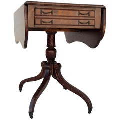 Sheraton Style Walnut Butterfly Drop-Leaf Table