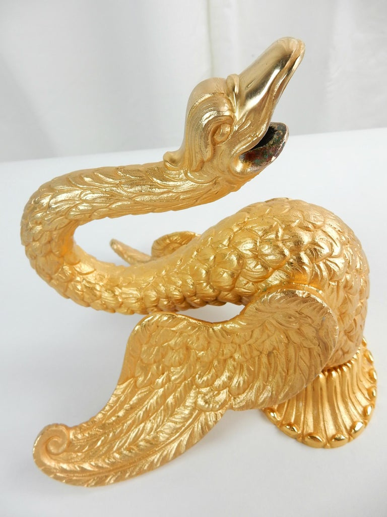 Sherle Wagner Collection 22-Karat Swan Bath Spout, circa 1960s For Sale 1