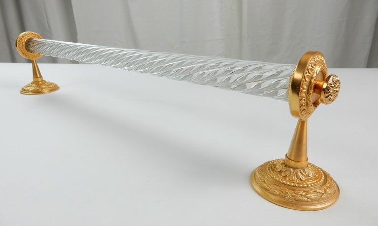 Sherle Wagner Collection Glass Towel Bar, circa 1960s For Sale 1