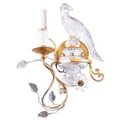 Sherle Wagner Rock Crystal 24K Gold Candelabra Sconce i