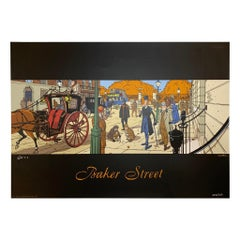 Sherlok Holmes Baker Street Hand Painted Signed and Numbered by Veys/Barral 2003