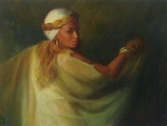 Lady in Gold, Oil Painting