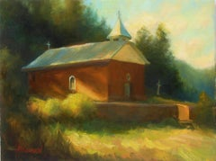 Old New Mexico Church, Oil Painting