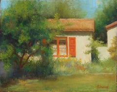San Diego Cottage, Oil Painting